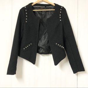 Dex Black Tweed Blazer with Silver Studs Size M
